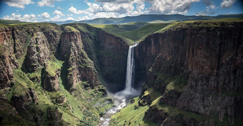 Water Falls in Lesotho